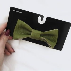 American apparel leather hair bow